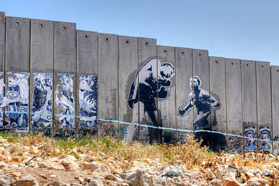 Photograph - Bethlehem Separation Wall 3 by David Birchall