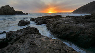 Pfeiffer Beach Photograph - Big Sur Sunset by Stephen  Vecchiotti