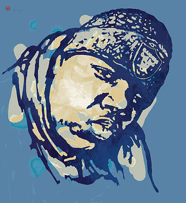 The Main Mixed Media - Biggie Smalls Modern Colour Etching Art  Poster by Kim Wang