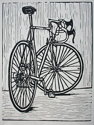 Ten Speed Drawing - Bike 4 by William Cauthern