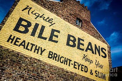 Bile Beans Advertising Art Print by Bailey Cooper