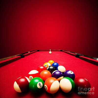 Billards Pool Game Art Print