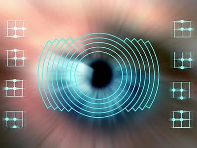 Biometrics Photograph - Biometric Eye Scan by Alfred Pasieka