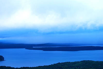Bird's-eye View From Cadillac Mountain Acadia National Park Art Print by Paul Ge