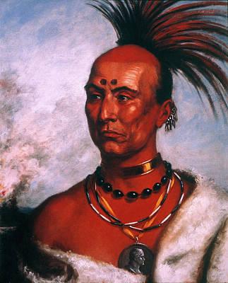 Beadwork Painting - Black Hawk (1767-1838) by Granger