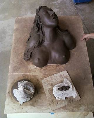 Sculpture - Black Mountain Woman by Kristen R Kennedy