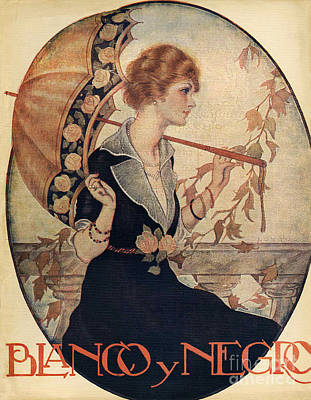 Drawing - Blanco Y Negro  1926  1920s Spain Cc by The Advertising Archives