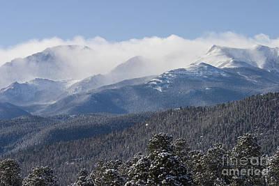 Steve Krull Royalty-Free and Rights-Managed Images - Blizzard Peak by Steve Krull