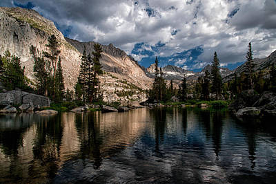 Grass Rocks Photograph - Blue Lake by Cat Connor