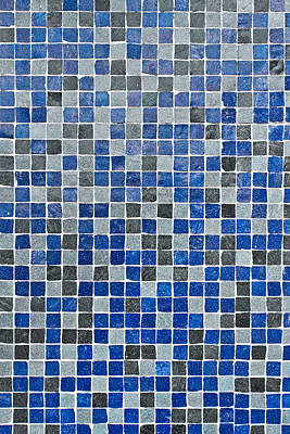 Color Block Photograph - Blue Tiles by Tom Gowanlock
