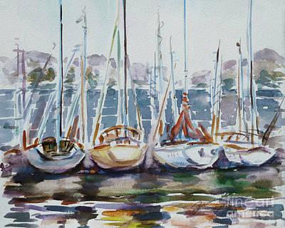 4 Boats Art Print