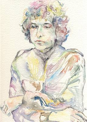 Robert Plant Framed Painting - Bob Dylan by Marina Sotiriou