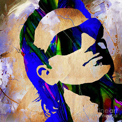 U2 Mixed Media - Bono U2 by Marvin Blaine