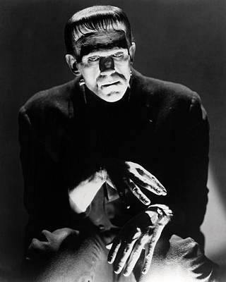 Photograph - Boris Karloff In Frankenstein  by Silver Screen