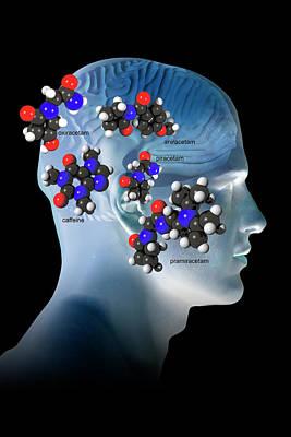 Brain-enhancing Supplements Art Print