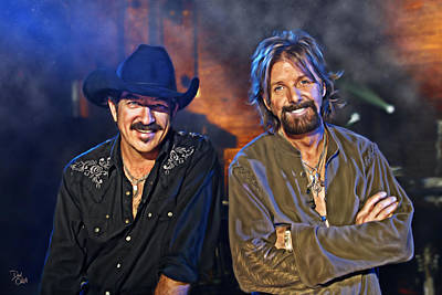 Rhythm And Blues Digital Art - Brooks And Dunn by Don Olea