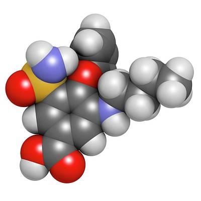 Chemical Photograph - Bumetanide Heart Failure Drug Molecule by Molekuul