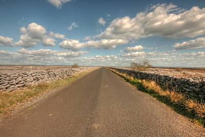 Burren Photograph - Burren Road by John Quinn
