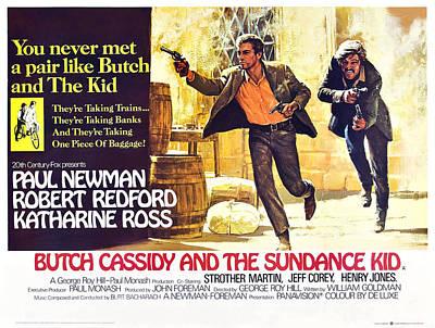 Butch Cassidy And The Sundance Kid Print by Everett