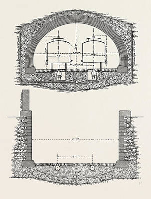 Cable Railway Tunnel Under River Near Van Buren Street Art Print by American School