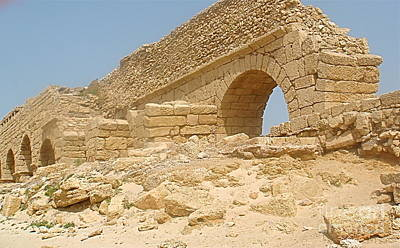 Caesarea Israel Ancient Roman Remains Art Print by Robert Birkenes