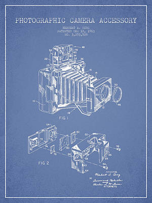 Video Digital Art - Camera Patent Drawing From 1963 by Aged Pixel