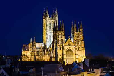 Canterbury Wall Art - Photograph - Canterbury Cathedral At Night by Ian Hufton