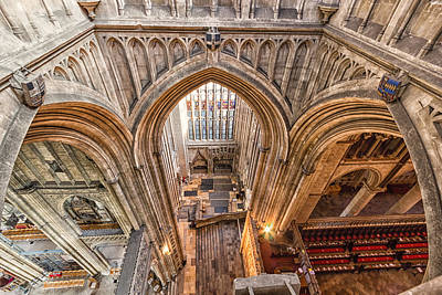 Canterbury Cathedral Print by Ian Hufton