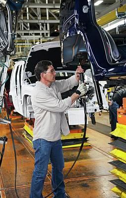 Production Line Photograph - Car Production Assembly Line by Jim West