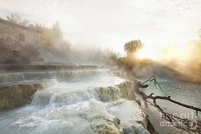 Tuscany Landscape Photograph - Cascate Del Mulino by Wolfgang Steiner