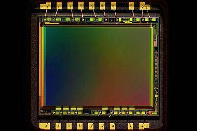 Microchip Photograph - Ccd Camera Sensor by Antonio Romero