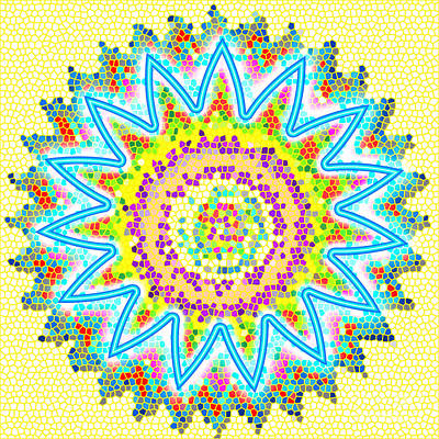 Popstar And Musician Paintings Royalty Free Images - Sparkle Signature art Chakra Round Mandala by NavinJoshi at FineArtAmerica.com rare fineart images  Royalty-Free Image by Navin Joshi