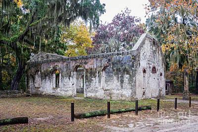 Frogmore Photograph - Chapel Of Ease Ruins St. Helena Island South Carolina by Dawna  Moore Photography