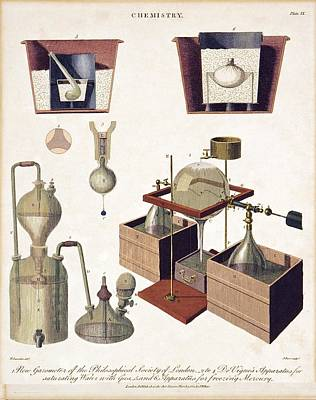 Photograph - Chemistry Equipment, Early 19th Century by Science Photo Library