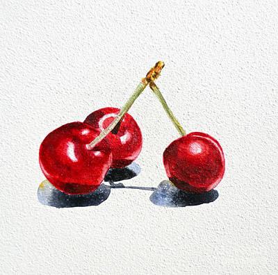 Nature Study Painting - Cherries by Irina Sztukowski