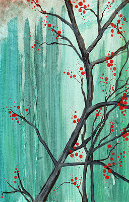 Painting - Cherry Tree  by Carrie Jackson