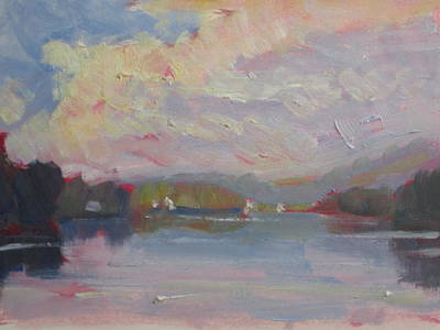 Painting - Cheshire Lake by Len Stomski