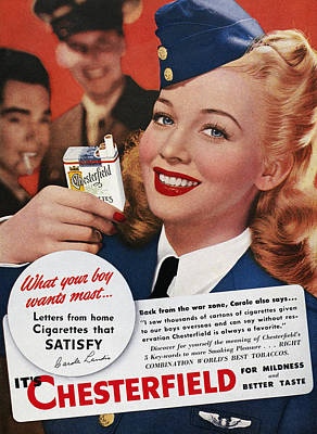 Carousel Collection Photograph - Chesterfield Cigarette Ad by Granger