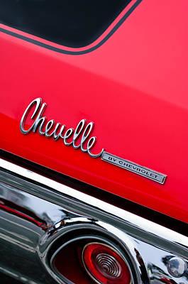 Chevrolet Chevelle Ss Taillight Emblem Art Print by Jill Reger