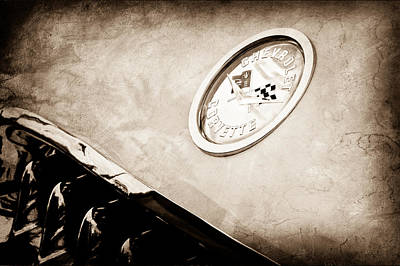Chevrolet Corvette Hood Emblem Art Print by Jill Reger