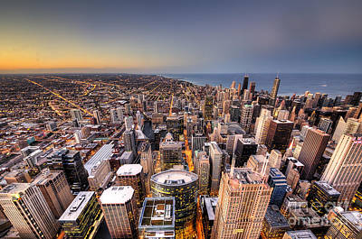 Chicago Skyline Photograph - Chicago From Above by Twenty Two North Photography