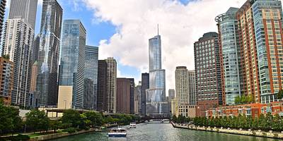 Photograph - Chicago Panorama by Frozen in Time Fine Art Photography