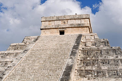 Cancun Photograph - Chichen Itza Modern Seven Wonders Of The World In Mexico by Brandon Bourdages