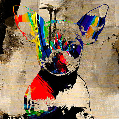 Animal Mixed Media - Chihuahua by Marvin Blaine