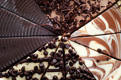 Photograph - 4 Chocolate Cheesecakes - Dessert - Baker - Kitchen by Andee Design