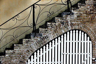 Wrought Iron Fence Photograph - Christiansted, Saint Croix, Us Virgin by Janet Muir
