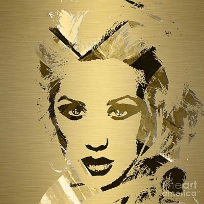 Voice Mixed Media - Christina Aguilera Collection by Marvin Blaine