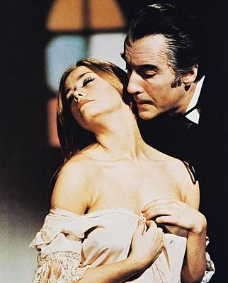 Dracula Photograph - Christopher Lee In Dracula Has Risen From The Grave  by Silver Screen