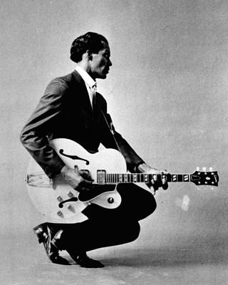 Blue Photograph - Chuck Berry by Retro Images Archive