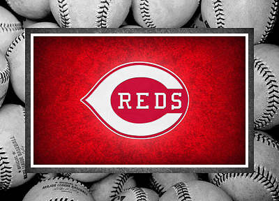 Cincinnati Reds Art Print by Joe Hamilton